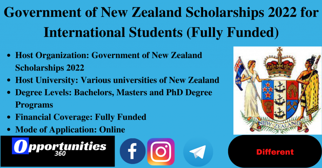 Government of New Zealand Scholarships 2022 for International Students (Fully Funded)